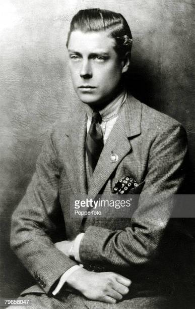 circa 1919 HRHEdward Prince of Wales portrait The Prince of Wales was to become King Edward VIII for a short while in 1936 but abdicated due to his...