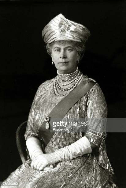 circa 1930's HMQueen Mary portrait Queen Mary born Mary of Teck was the Queen Consort of King George V