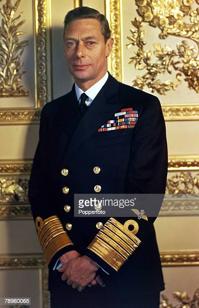 circa 1950 King George VI of Great Britain who reigned from 19361952