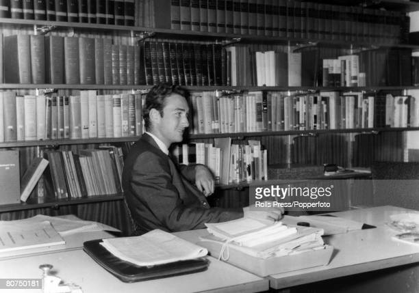 December 1965 Lagos Nigeria Prince William of Gloucester at his desk in the British High Commission in Lagos Prince William 19411972 was killed in a...
