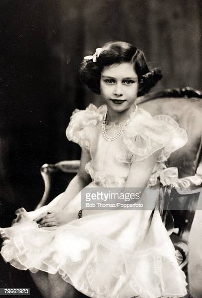 British Royalty Princess Margaret Rose circa 1938 the daughter of King George VI and Queen Elizabeth
