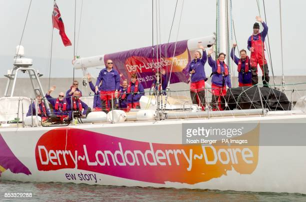 British sailor Andrew Taylor aboard DerryLondonderryDoire arrives in San Francisco after racing from China in the Clipper Round the World Yacht Race...