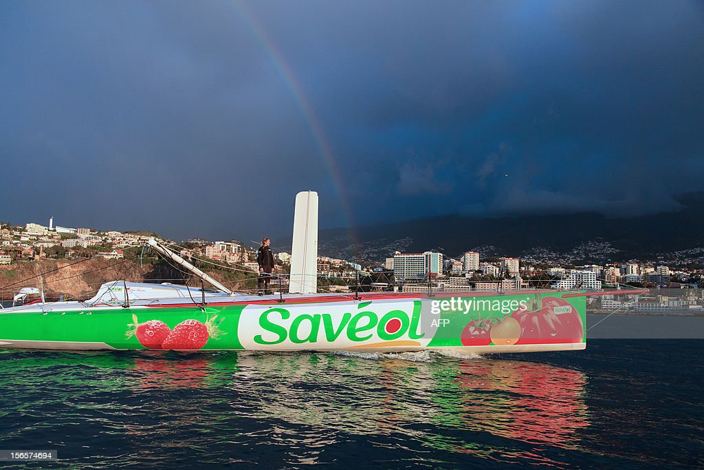British sailor Samantha Davies arrives on November 17, 2012 in Funchal, on the island of Madeira, Portugal. Davies, who was eliminated from the solo, round-the-world Vendee Globe after the dismasting of her yacht, limped into Madeira on November 17. The 38-year-old, the only woman in the world's most gruelling yacht race, saw her boat dismasted on Thursday evening in strong winds about 130 nautical miles northeast of Madeira, the Portuguese island in the Atlantic Ocean.