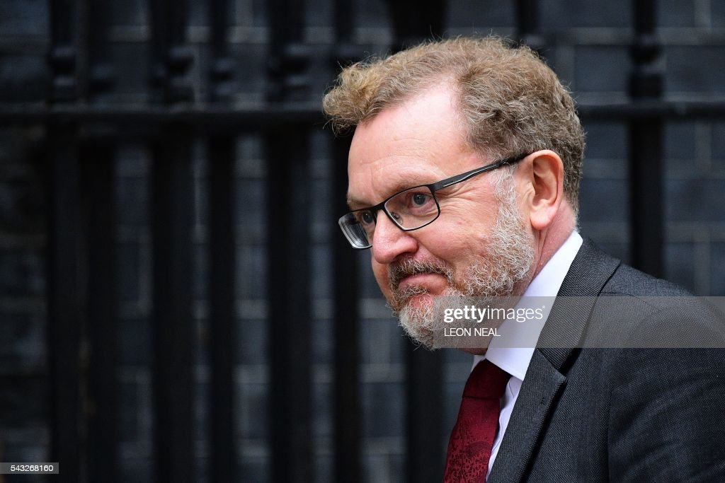 British Scotland Secretary David Mundell arrives to attend a cabinet meeting at 10 Downing Street in central London on June 27, 2016. European stock markets mostly slid Monday as British finance minister George Osborne attempted to calm jitters after last week's shock Brexit referendum. Britain's surprise referendum decision to leave the European Union wiped $2.1 trillion off market valuations on Friday and sent the pound collapsing to a 31-year low against the dollar. / AFP / LEON
