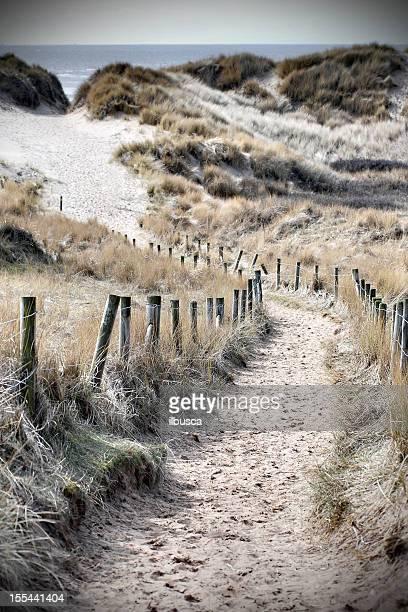 British seaside path