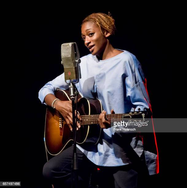 British singer AlaNi performs live during a concert at the Columbia Theater on March 24 2017 in Berlin Germany