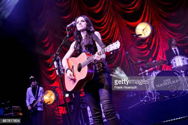 British singer Amy Macdonald performs live during a concert at the Tempodrom on March 25 2017 in Berlin Germany
