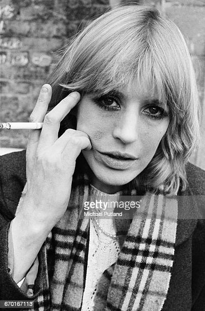 British singer and actress Marianne Faithfull London June 1982