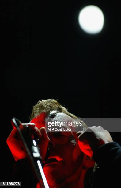 British singer and leader of the group Massive Attack Robert Del Naja '3D' performs during their concert at the threeday music festival 'Conciertos...