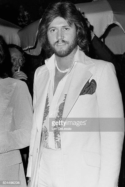 British singer and songwriter Barry Gibb at a party celebrating the 20th Anniversary of The Bee Gees as a vocal group