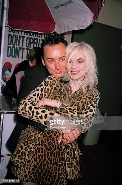 British singer Boy George with fashion designer Pam Hogg at the UK premiere of Wes Craven's horror film 'Scream' at the Chelsea Cinema London 24th...