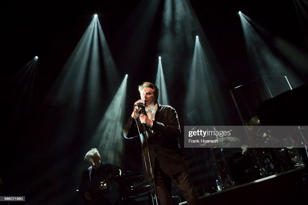 British singer Bryan Ferry performs live on stage during a concert at the Tempodrom on May 19, 2017 in Berlin, Germany.