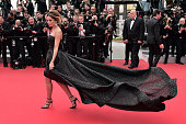 British singer Cheryl Cole poses as she arrives for the screening of the film 'Foxcatcher' at the 67th edition of the Cannes Film Festival in Cannes...