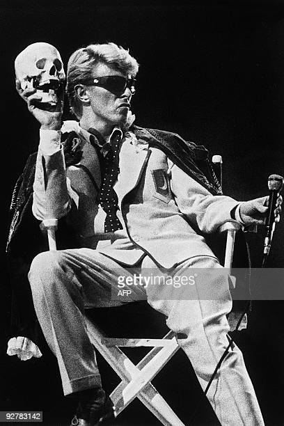 British singer David Bowie performs on stage in Brussels on May 20 1983 AFP PHOTO
