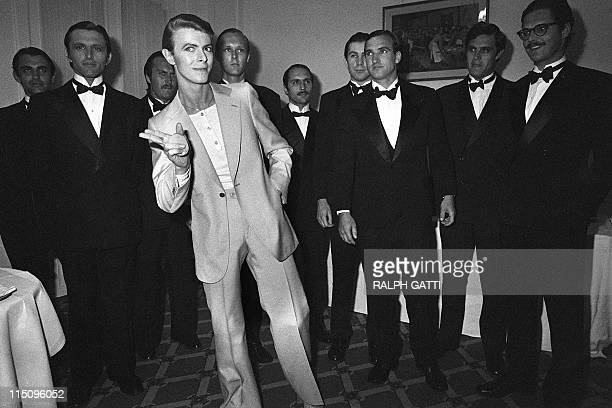 British singer David Bowie poses during the 31th Cannes Film Festival on May 30 1978 AFP PHOTO RALPH GATTI