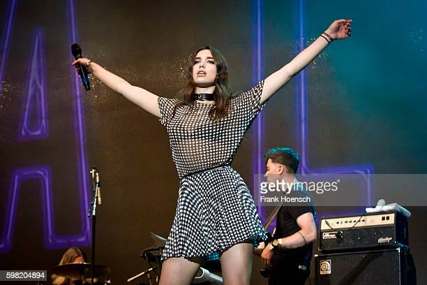 British singer Dua Lipa performs live during Stars For Free Festival at the Kindlbuehne Wuhlheide on August 27 2016 in Berlin Germany