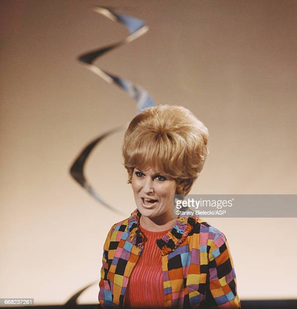 British singer Dusty Springfield performing circa 1965