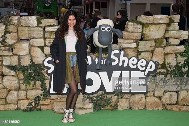 British singer Eliza Doolittle poses for photographers at the European premiere of the Shaun the Sheep Movie in central London on January 25 2015 AFP...