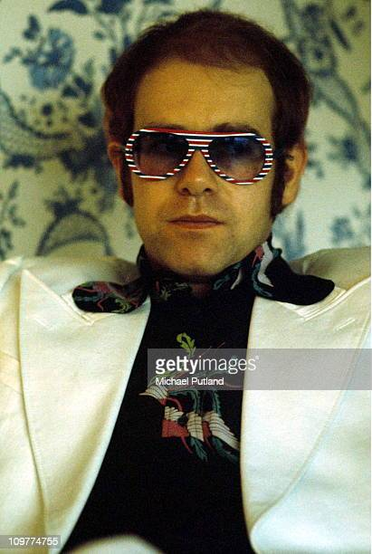 British singer Elton John in the mid 1970's