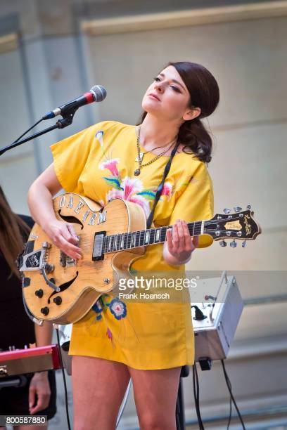 British singer Gemma Ray performs live on stage during a concert at the Humboldtforum on June 24 2017 in Berlin Germany