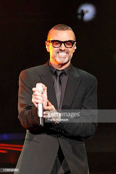 British singer George Michael performs live during a concert at the O2 World on September 5 2011 in Berlin Germany The concert is part of the 2011...