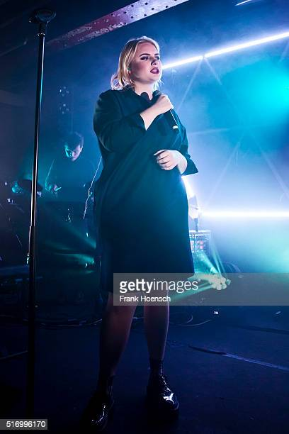 British singer Holly Lapsley Fletcher performs live during a concert at the Postbahnhof on March 22 2016 in Berlin Germany