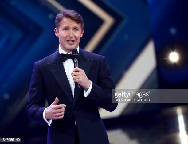 British singer James Blunt addresses the Golden Camera awards in Hamburg northern German on March 4 2017 PHOTO / POOL / Christian Charisius