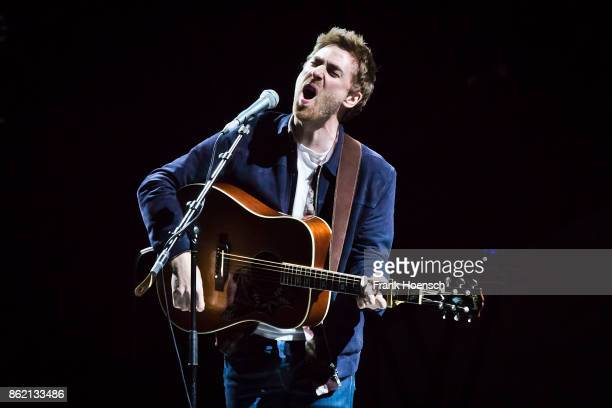 British singer Jamie Lawson performs live in support of James Blunt on stage during a concert at the MercedesBenz Arena on October 16 2017 in Berlin...