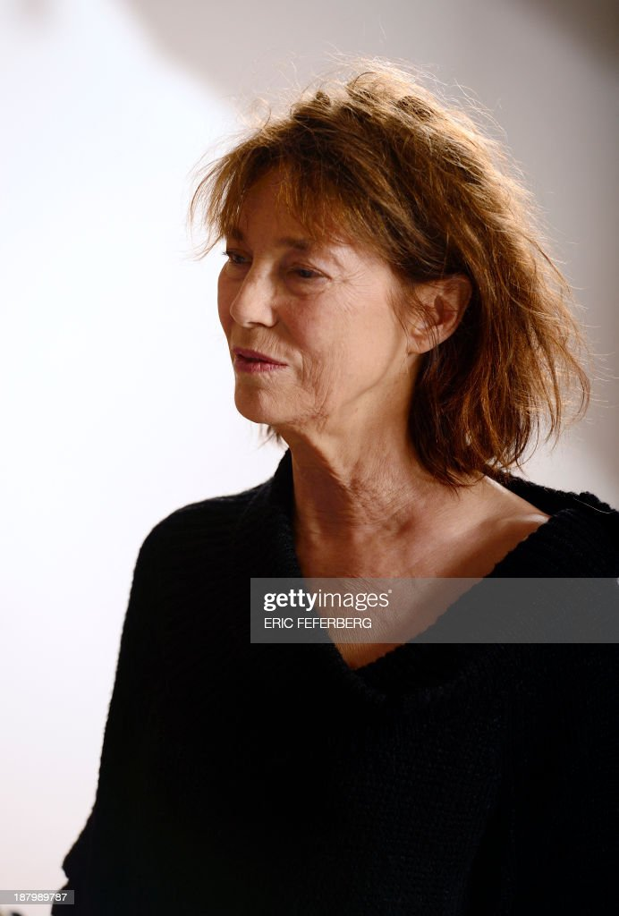 British singer Jane Birkin is pictured after she received a diploma from Japanese foreign ministry for her support to Japan after the tsunami and the nuclear accident in 2011 on November 14, 2013 at the Japanese embassy in Paris.