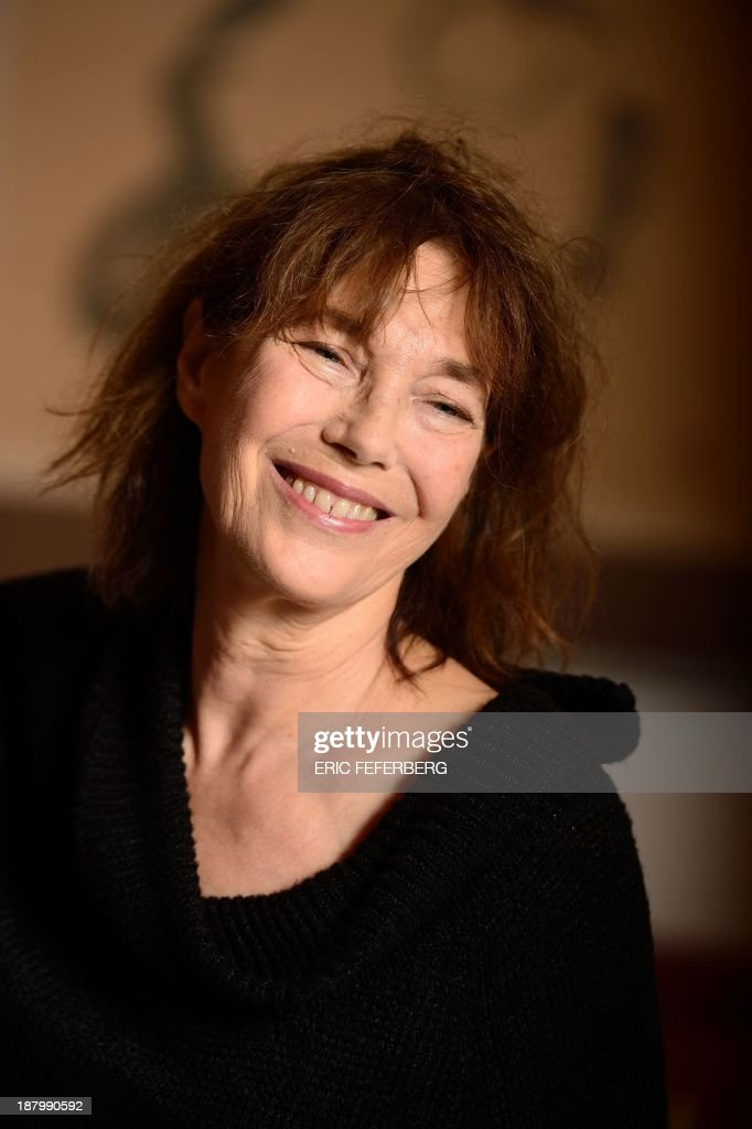 British singer Jane Birkin poses after receiving a diploma from Japanese foreign ministry for her support to Japan after the tsunami and the nuclear accident in 2011 on November 14, 2013 in Paris.