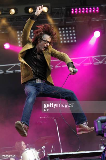 British singer Jarvis Cocker performs during the Rock en Seine music festival 25 August 2007 in SaintCloud near Paris AFP PHOTO / GUILLAUME BAPTISTE