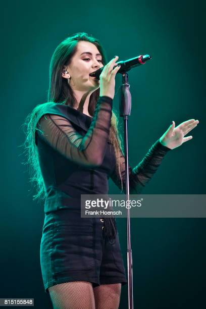 British singer Jasmine Thompson performs live on stage during the Essence Birthday Party at the Tempodrom on July 15 2016 in Berlin Germany