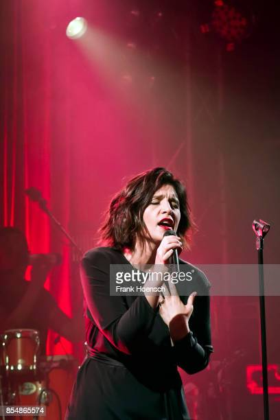 British singer Jessie Ware performs live on stage during a concert at the Lido on September 27 2017 in Berlin Germany