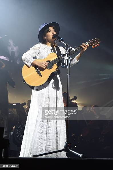 British singer Katie Melua performs live during the Night Of The Proms at the Lanxess Arena on December 12 2014 in Cologne Germany