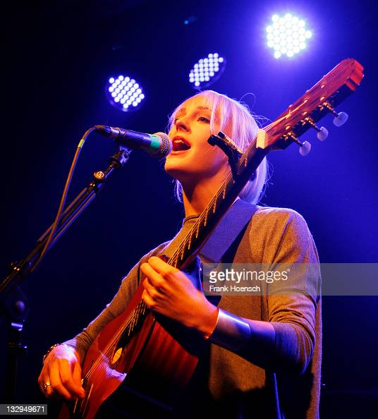 British singer Laura Marling performs live during a concert at the Postbahnhof on November 15 2011 in Berlin Germany