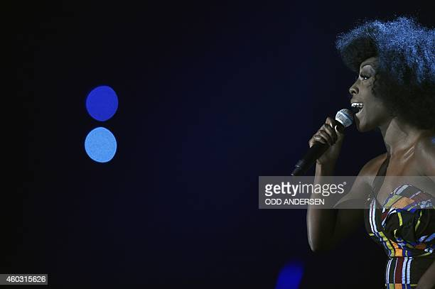 British singer Laura Mvula performs at the Nobel Peace Prize Concert at the Oslo spectrum on December 11 2014 The 17yearold Pakistani girls'...