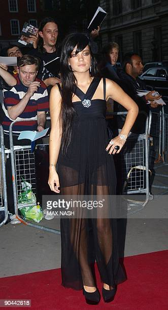 British singer Lily Allen arrives for the GQ Awards at the Royal Opera House London on September 8 2009 AFP Photo/Max Nash