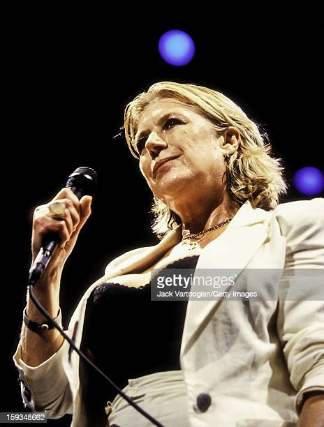 British singer Marianne Faithfull performs at Central Park's SummerStage New York New York July 21 1999