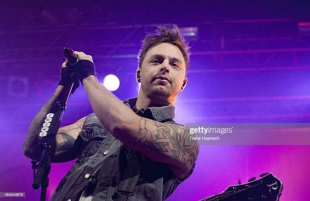 British singer Matthew Tuck of Bullet For My Valentine performs live during a concert at the Huxleys on March 22, 2013 in Berlin, Germany.
