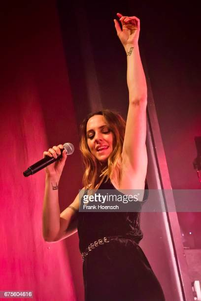 British singer Melanie Chisholm aka Mel C performs live on stage during a concert at the Columbia Theater on May 1 2017 in Berlin Germany