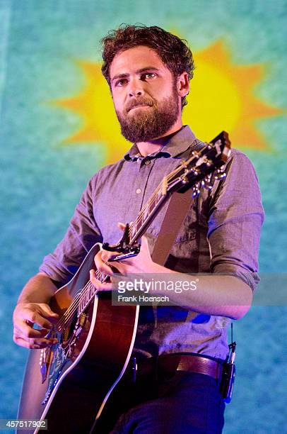 British singer Mike Rosenberg aka Passenger performs live during a concert at the Columbiahalle on October 19 2014 in Berlin Germany