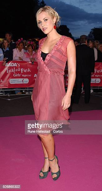 British singer Natasha Bedingfield attends the Asda Tickled Pink Gala in aid of Breast Cancer Care at The Royal Albert Hall in London