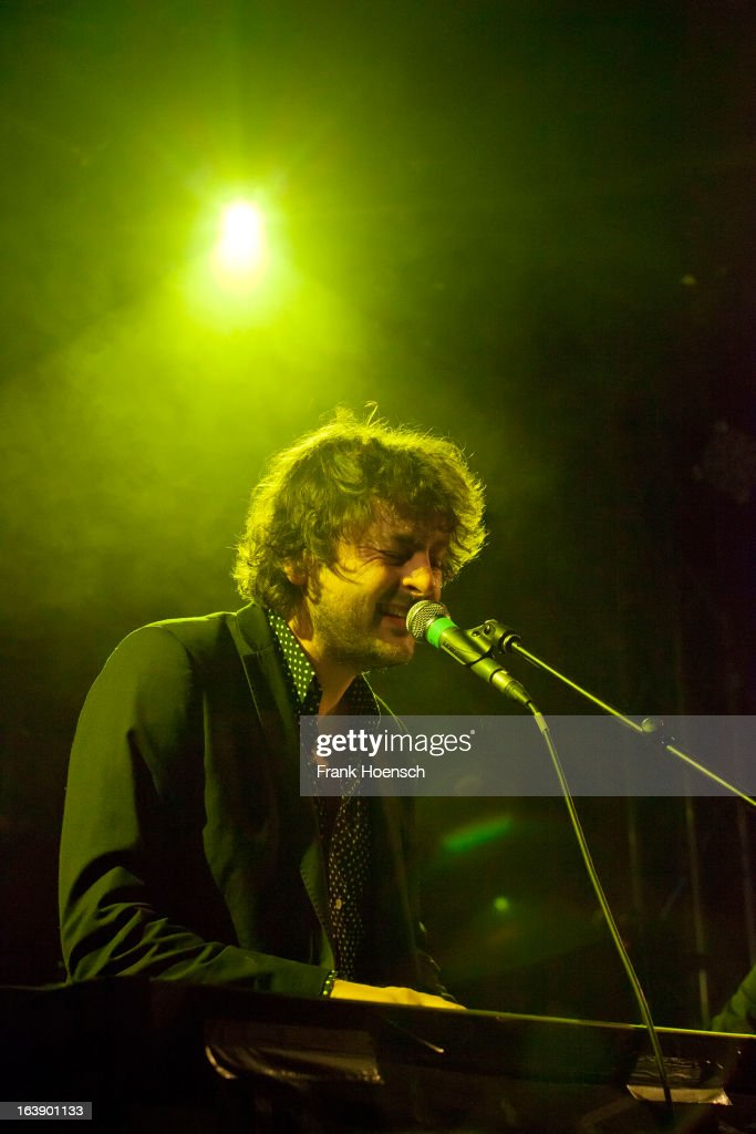 British singer Oly Ralfe with his project Ralfe Band performs live in support of I Am Kloot during a concert at the Lido on March 17, 2013 in Berlin, Germany.