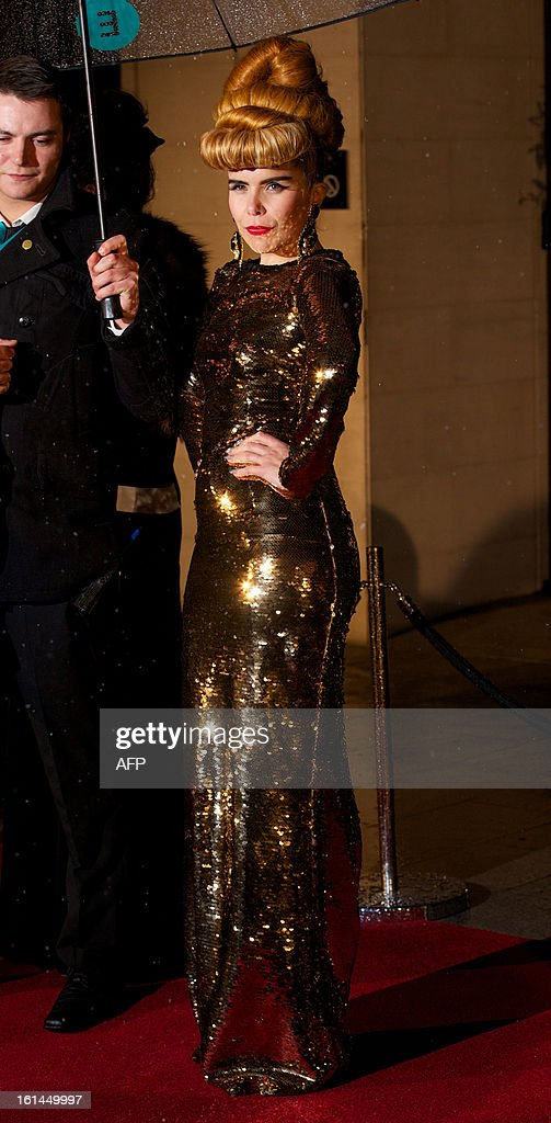 British singer Paloma Faith arrives for the BAFTA British Academy Film Awards after party in London on February 10, 2013.
