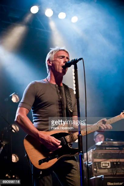 British singer Paul Weller performs live on stage during a concert at the Huxleys on May 31 2017 in Berlin Germany