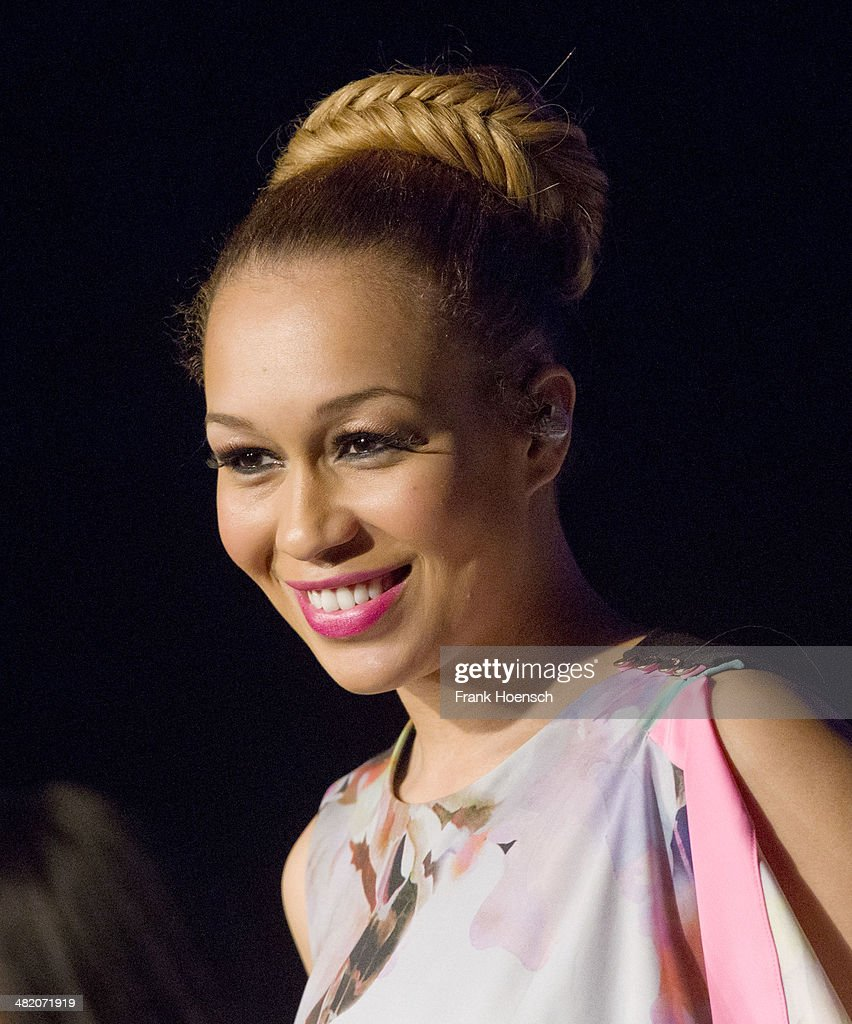 British singer Rebecca Ferguson performs live during a concert at the Postbahnhof on April 2, 2014 in Berlin, Germany.