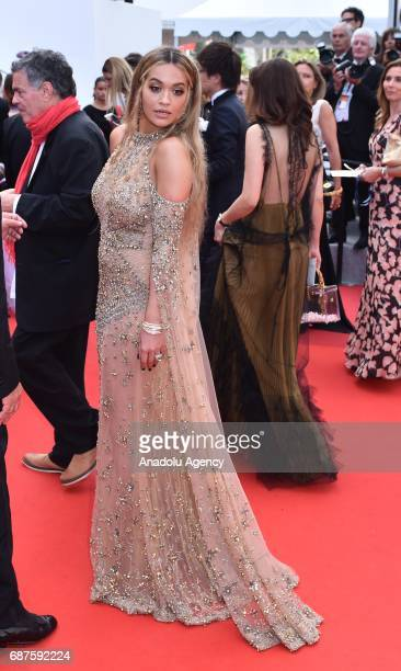 British singer Rita Ora arrives for the 70th Anniversary Ceremony of Cannes Film Festival in Cannes France on May 23 2017