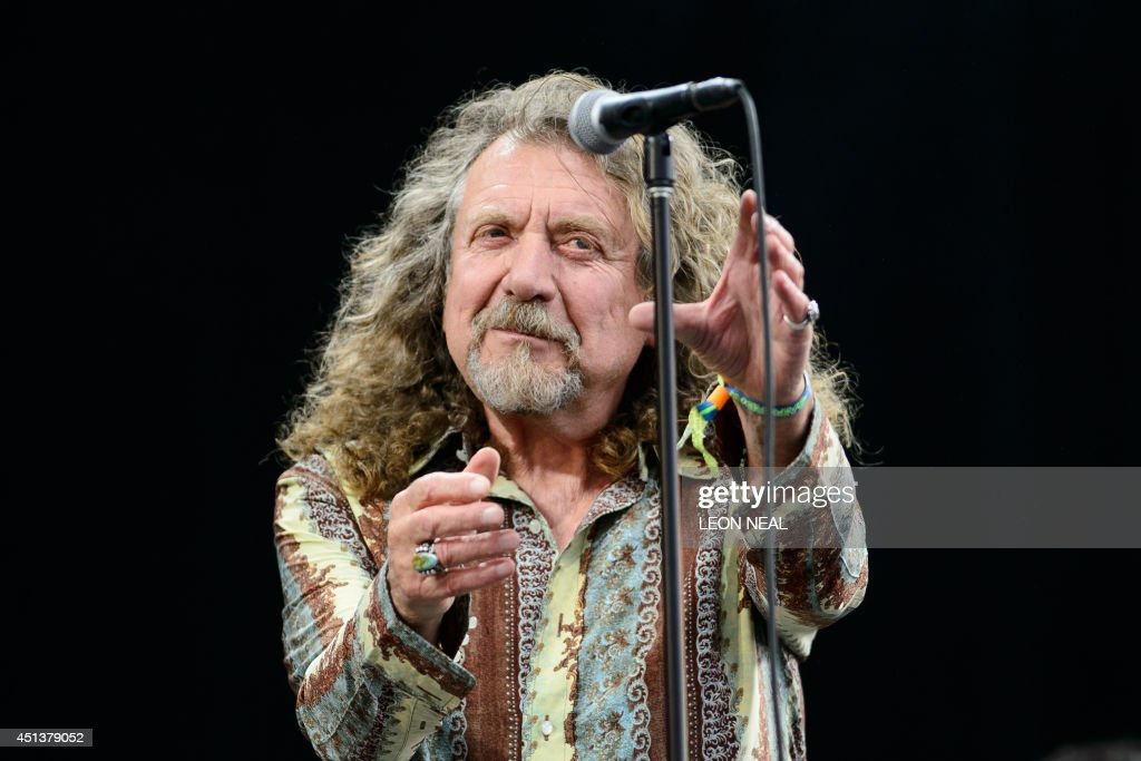 British singer Robert Plant performs on the Pyramid Stage, on the second day of the Glastonbury Festival of Music and Performing Arts in Somerset, southwest England, on June 28, 2014. US metal giants Metallica will play this year's coveted Saturday night headline spot at Britain's Glastonbury festival, organisers announced Thursday. It will be the 'Master of Puppets' four-piece's first appearance at the legendary festival, held in south west England, following on from The Rolling Stones' Worthy Farm debut last year.