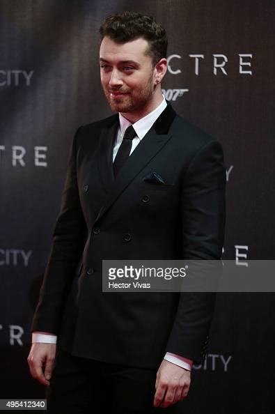 British Singer Sam Smith attends the red carpet of the 'Spectre' film Premiere at Auditorio Nacional on November 02 2015 in Mexico City Mexico