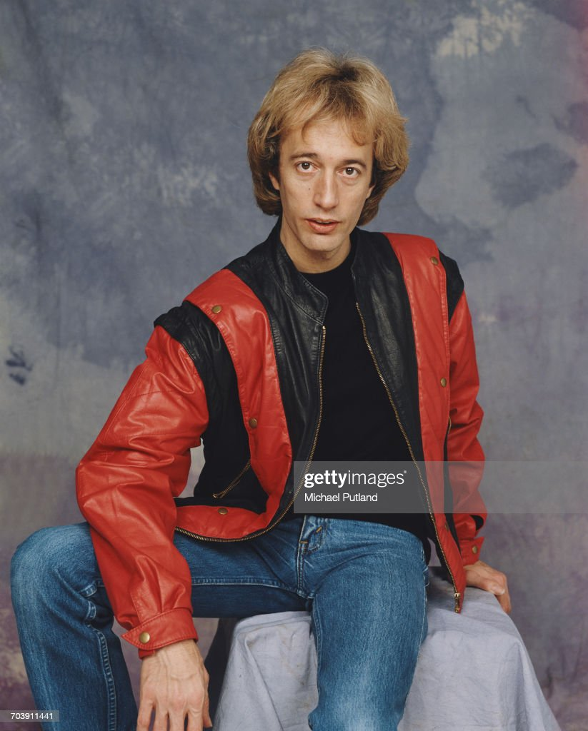 British singer, songwriter, musician and producer Robin Gibb (1949 - 2012) of the Bee Gees, 1984.